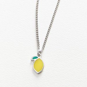 Urban Outfitters Fruity Icon Short Necklace Lemon
